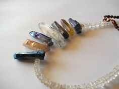 Ice Wine. One Of A Kind Necklace Rough by georgieandjetdesigns, $85.00