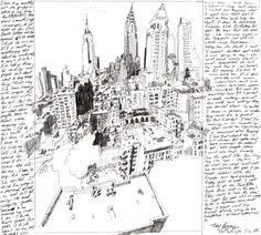 TREY BRYAN: New York City Drawing