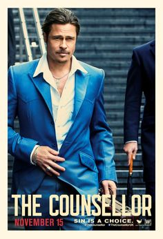 """Brad Pitt as Westray in """"The Counselor"""" poster."""