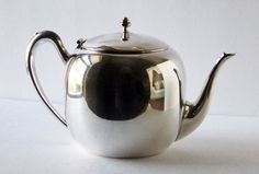 Silver Plated Teapot by TeaAndHoneyVintage on Etsy, $27.00