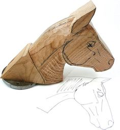 Horse Head Pt 2 - The Woodworkers Institute good step by step pictures for carving head