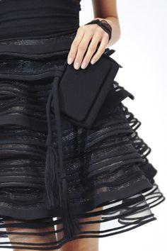 swirl black short skirt