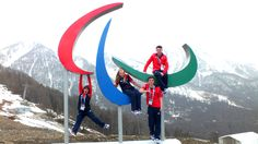 We found our Paralympic athletes Millie, Rachael, Ben and James hanging out in Sochi #GoParalympicsGB