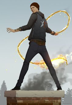 So excited about inFAMOUS: Second SOn! here's a fanart of Delsin Rowe by doubleleaf.deviantart.com on @deviantART