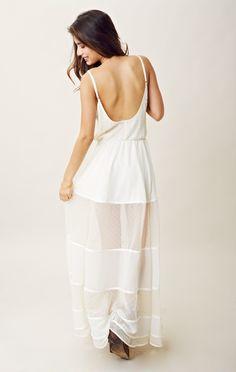 Sexy vestido largo