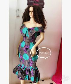 Beautiful patterned ankara short dress styles for ladies, african women ankara patterned gown styles #ankara #ankarastyles #asoebi #asoebibella #africanprint #africanfashion