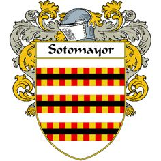 Sotomayor Coat of Arms   http://spanishcoatofarms.com/ has a wide variety of products with your Hispanic surname with your coat of arms/family crest, flags and national symbols from Mexico, Peurto Rico, Cuba and many more available upon request,