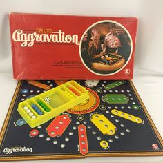 Vintage Aggravation Deluxe Party Edition Board Game No 8321 Complete #Lakeside