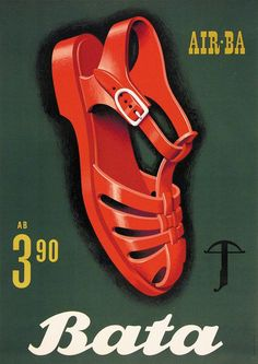 chaussures Bata - 1961 - illustration de Peter Birkhäuser -