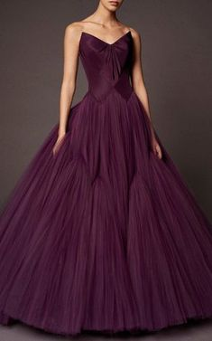 Layered Silk Tulle Ball Gown by Zac Posen