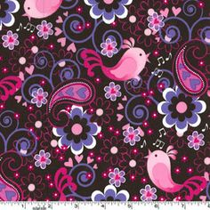 Birdsong Michael Miller Fabric  pink 4791 by Fabricscrapprincess, $8.00