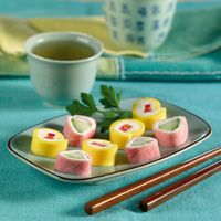 ham and cheese sushi rolls