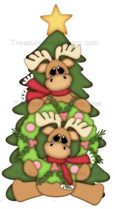 Alces de la Navidad