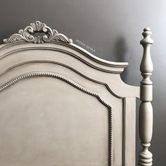 Lex's Custom Annie Sloan French Linen and Graphite Headboard with Antique Finish Modern French Country, French Country Bedrooms, French Country House, French Style, French Decor, French Country Decorating, Country Furniture, Vintage Furniture, French Furniture