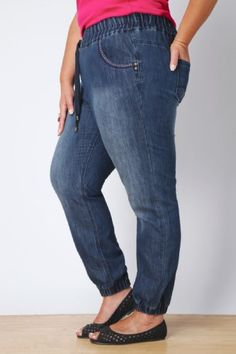 c3c70ad1389 Fashion Bug Womens Plus Size Indigo Harem Jogger Jeans. www.fashionbug.us