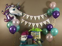 #Unicorn #BirthdayParty #Decorations #Bannerdecoration  #SuppliesSet Kit Favors | 1PC Foil #Balloon | 12PC #Helium #PastelBalloons for #1stbirthday dRibbon | For #Boy #Girl #1stbirthday  #2ndbirthday  #3rdbirthday  #10thanniversary  #13thbirthday  #20thbirthday  | #Sparkle#Glitter#Flag#outfit #funtime #funtimes #goodtime #goodtimes #happychill #party #partytime #fun#partysupply #wedding #bachelorette #babyshower #havingfun#celebration #partymood #afterparty…