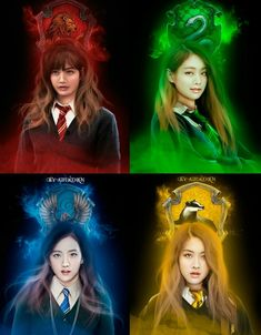 BlackPink Houses of Hogwarts Harry Potter Anime, Harry Potter Fan Art, Hogwarts, Slytherin, Mode Rose, Blackpink Poster, Photographie Portrait Inspiration, Blackpink Funny, Lisa Blackpink Wallpaper
