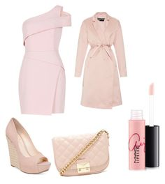 """""""Peachy"""" by angelagmusic ❤ liked on Polyvore featuring BCBGMAXAZRIA, Jessica Simpson, Forever 21, MAC Cosmetics and Rochas"""