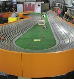Buzz-A-Rama – Brooklyn, New York - Atlas Obscura Slot Car Race Track, Slot Car Racing, Slot Car Tracks, Slot Cars, Race Cars, Brooklyn, York, Jennifer Lawrence, Airplanes
