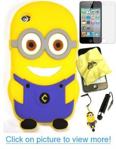 Bukit Cell ® Despicable Me Case Bundle - 5 items: 3D Despicable Me Minion (BLUE) Soft Silicone Case Cover for iPod Touch 4 4G 4th Generation + BUKIT CELL Trademark Lint Cleaning Cloth + Minion Figure Anti Dust Plug Stylus Touch Pen + Screen Protector + METALLIC Stylus Touch Pen with Anti Dust Plug #Bukit #Cell #® #Despicable #Case #Bundle #items: #3D #Minion #BLUE #Soft #Silicone #Cover #iPod #Touch #4G #4th #Generation #BUKIT #CELL #Trademark #Lint #Cleaning #Cloth #Figure #Anti #Dust #Plug #S…