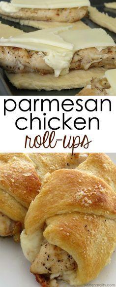 Parmesan Chicken Roll Ups