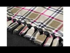 How To Tie A Fancy Knot On Your No Sew Fleece Blankie - YouTube