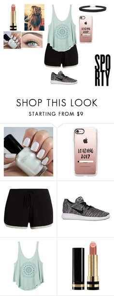 """Sporty"" by luana-hemmings ❤ liked on Polyvore featuring Casetify, Pepper & Mayne, NIKE, RVCA, Gucci and Humble Chic"
