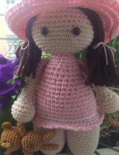 muñeca amigurumi  y osito Dolls amigurumi and teddy