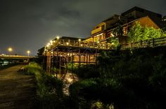 """""""Noryo Yuka"""" are Kyoto's famous outdoor dining spaces by the Kamogawa River, perfect in the summer for fine dining, dessert, snacks or drinks."""