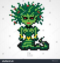 Image result for pixel art mythology