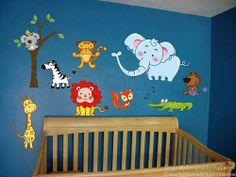 Popdecors Wall Decals & Stickers - Repositionable Party in the Zoo - Free Squeegee- Nursery Printed Wall Decals Babies Stickers Holiday Children Gift Idea Pop Decors,http://www.amazon.com/dp/B0093CID0A/ref=cm_sw_r_pi_dp_2Meatb11R5E8RJ3X