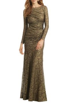 Rent Gold Idol Gown by Carmen Marc Valvo for $185 only at Rent the Runway.