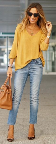 69aaa76ac770 #fall #outfits brown long-sleeved dress. Blue Jean Outfits, Clothes 2019