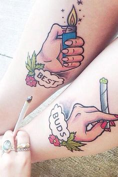 Best Friendship Tattoos Ideas For Girls cute best friend tattoos . Bff Tats, Bestie Tattoo, Sister Tattoos, Girl Tattoos, Tattoos For Women, Tattoo Friends, Tattoo Designs For Couples, Child Tattoos, Family Tattoos