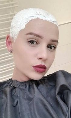 #hairdare #bald #smooth #headshave #closeshave #baldwoman #shavedhead #baldbychoice #sexy #beautiful Super Short Hair, Short Hair Cuts, Short Hair Styles, Cool Haircuts For Girls, Shaved Undercut, Shave Her Head, Bald Girl, Bald Women, Hair Color For Women