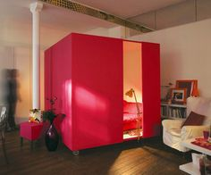 Mobile-bed-cube-great-idea-for-a-studio-apartment-m #EasyPin