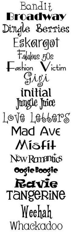 Fun lettering fonts by fougere