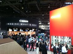 "Canon booth ""Imagine what's next"""