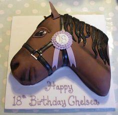 Horse Head Cake Design : Horse Head Cake Template cakepins.com Country cakes ...