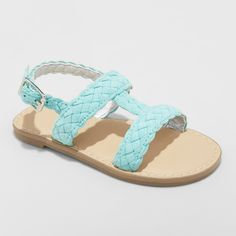 7fa30d2ad5046 Toddler Girls  Elsie Two Piece Slide Sandals - Cat   Jack Mint (Green) 7