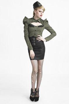 Fashion q black dress leather