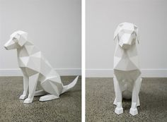 Stark White Geometric Animal Sculptures by Ben Foster - My Modern Metropolis