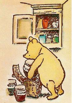 Pooh stores honey