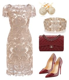 """Elegante!"" by taniaisabel-1 on Polyvore featuring Christian Louboutin, Chanel, Loushelou and Oasis"