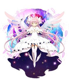 New official transparent artwork of Ultimate Madoka from the Puella Magi Madoka ☆ Magica/Thousand Memories crossover