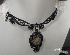 FRANKENBRIDE  OOAK wire wrapped necklace