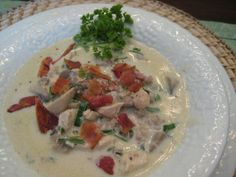 Montreal Chicken Soup - quick soup, if already have cooked chicken on hand.  Delicious and rich soup.