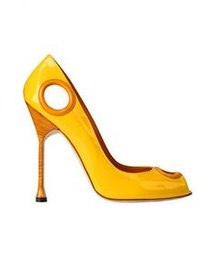 Manolo Blahnik Fall Winter 2012 shoe collection72.jpg....Unique and So Blahnik using bold, vibrant colors