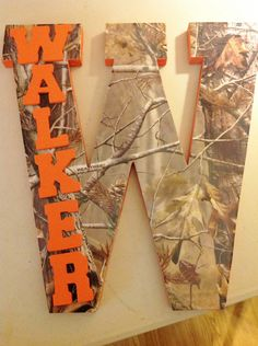 Gettin this for bubby& room! Letter Home Decor by TheCrossedCupcake. Camo Rooms, Arte Country, Arts And Crafts, Diy Crafts, Camo Baby Stuff, Baby Boy Rooms, Baby Shower, Baby Love, Making Ideas