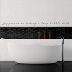 Happiness is…Vinyl – Grey from Bathroom Bliss Decals